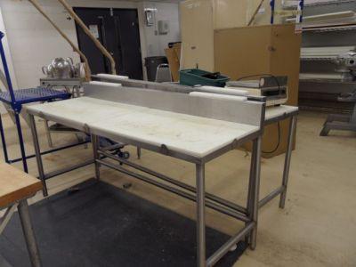 table de travail en stainless teflon recyclage industriel. Black Bedroom Furniture Sets. Home Design Ideas