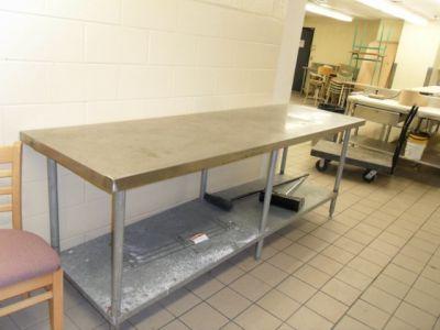 Table de travail en stainless recyclage industriel for Table de travail bois
